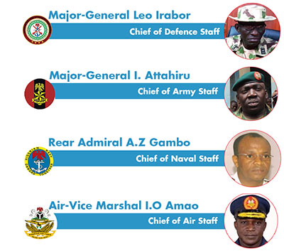Finally, Buhari replaces Service Chiefs