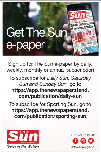 The Sun ePaper Advert