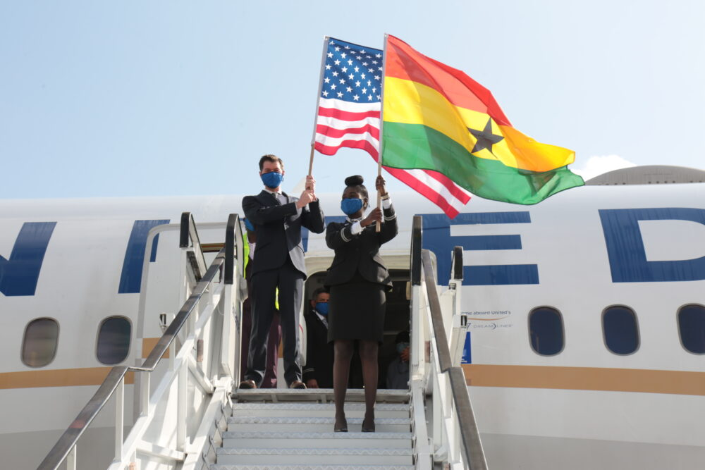 United Airlines resumes operations in Ghana
