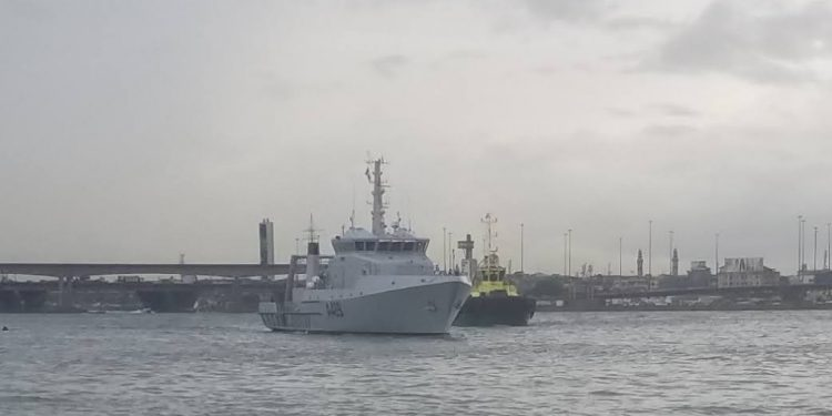HAPPENING NOW: Navy welcomes NNS LANA into its folds